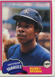 1981 Topps Baseball Cards      418     Bobby Brown