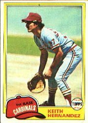1981 Topps Baseball Cards      420     Keith Hernandez