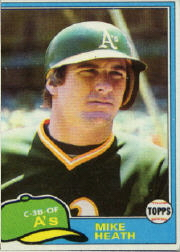 1981 Topps Baseball Cards      437     Mike Heath