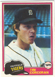 1981 Topps Baseball Cards      448     Tim Corcoran