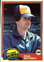 1981 Topps Baseball Cards      449     Paul Mitchell
