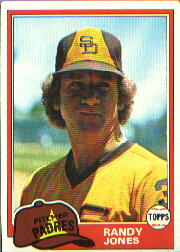 1981 Topps Baseball Cards      458     Randy Jones