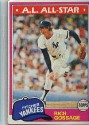 1981 Topps Baseball Cards      460     Rich Gossage