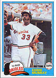 1981 Topps Baseball Cards      490     Eddie Murray