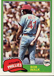 1981 Topps Baseball Cards      494     Bob Walk RC