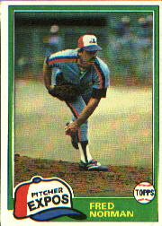 1981 Topps Baseball Cards      497     Fred Norman