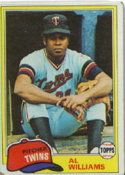 1981 Topps Baseball Cards      569     Al Williams  RC