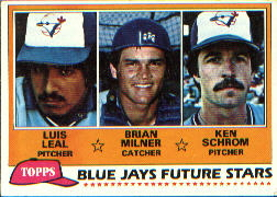 1981 Topps Baseball Cards      577     Luis Leal/Brian Milner/Ken Schrom RC