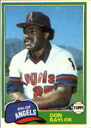 1981 Topps Baseball Cards      580     Don Baylor