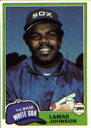 1981 Topps Baseball Cards      589     Lamar Johnson