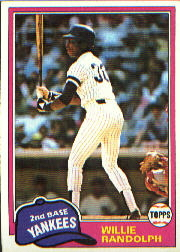 1981 Topps Baseball Cards      060      Willie Randolph