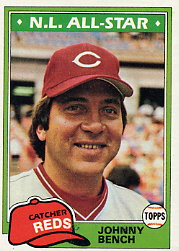 1981 Topps Baseball Cards      600     Johnny Bench