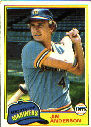 1981 Topps Baseball Cards      613     Jim Anderson