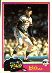1981 Topps Baseball Cards      614     Dave Rozema