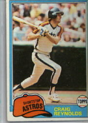 1981 Topps Baseball Cards      617     Craig Reynolds