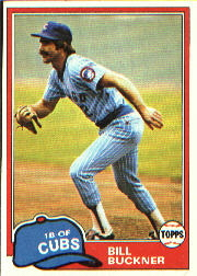 1981 Topps Baseball Cards      625     Bill Buckner