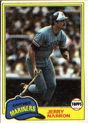 1981 Topps Baseball Cards      637     Jerry Narron