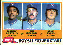 1981 Topps Baseball Cards      066      Manny Castillo/Tim Ireland/Mike Jones RC
