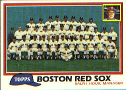 1981 Topps Baseball Cards      662     Red Sox Team CL#{Ralph Houk MG
