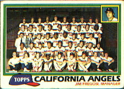 1981 Topps Baseball Cards      663     Angels Team CL#{Jim Fregosi MG