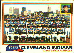 1981 Topps Baseball Cards      665     Indians Team CL#{Dave Garcia MG