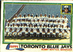 1981 Topps Baseball Cards      674     Blue Jays Team/Mgr.#{Bobby Mattick#{(Checklist bac