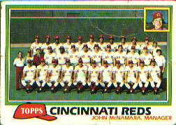 1981 Topps Baseball Cards      677     Reds Team CL#{John McNamara MG