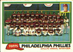 1981 Topps Baseball Cards      682     Phillies Team CL#{Dallas Green MG