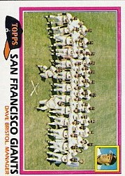 1981 Topps Baseball Cards      686     Giants Team CL#{Dave Bristol MG
