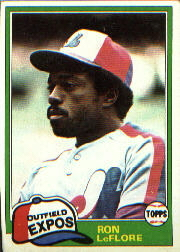 1981 Topps Baseball Cards      710     Ron LeFlore