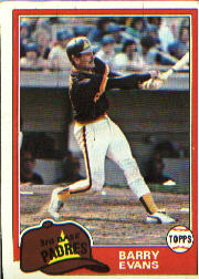 1981 Topps Baseball Cards      072      Barry Evans  RC