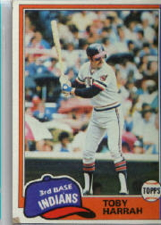 1981 Topps Baseball Cards      721     Toby Harrah