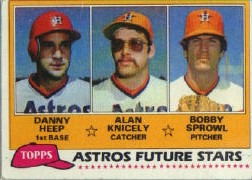 1981 Topps Baseball Cards      082      Danny Heep/Alan Knicely/Bobby Sprowl RC