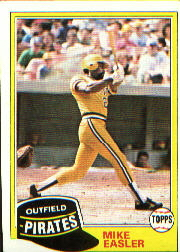 1981 Topps Baseball Cards      092      Mike Easler