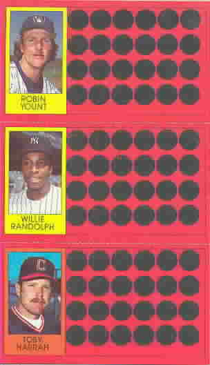 1981 Topps Scratch-Offs Panels Baseball Cards