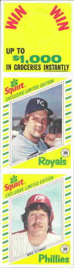 1982 Squirt Panels Baseball Cards