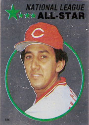 1982 Topps Baseball Stickers     124     Dave Concepcion FOIL