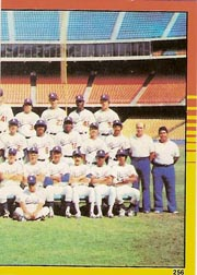 1982 Topps Baseball Stickers     256     Dodgers Team#{World Champions#{(Right half photo)