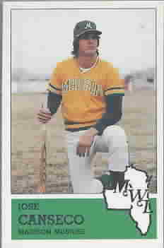 1983 Madison Muskies Fritsch Baseball Cards