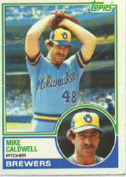 1983 Topps      142     Mike Caldwell