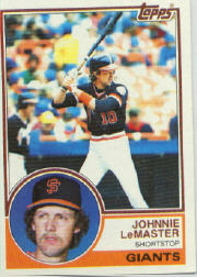 1983 Topps      154     Johnnie LeMaster