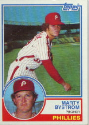 1983 Topps      199     Marty Bystrom
