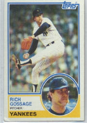 1983 Topps      240     Rich Gossage