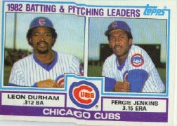 1983 Topps      051      Cubs TL/Fergie Jenkins/Leon Durham