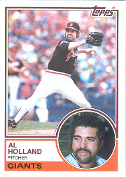 1983 Topps      058      Al Holland