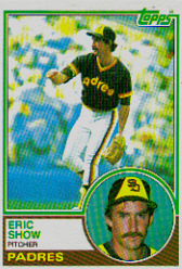1983 Topps      068      Eric Show RC