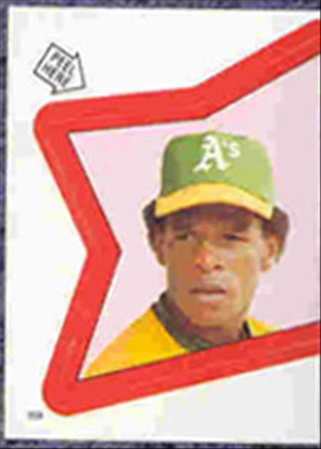 1983 Topps Baseball Stickers     159     Rickey Henderson