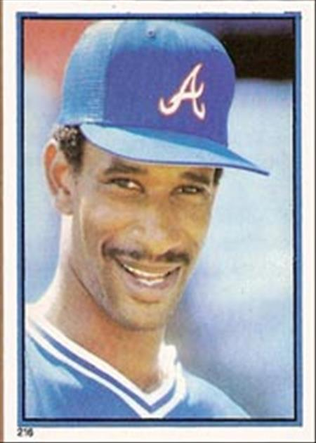 1983 Topps Baseball Stickers     216     Claudell Washington