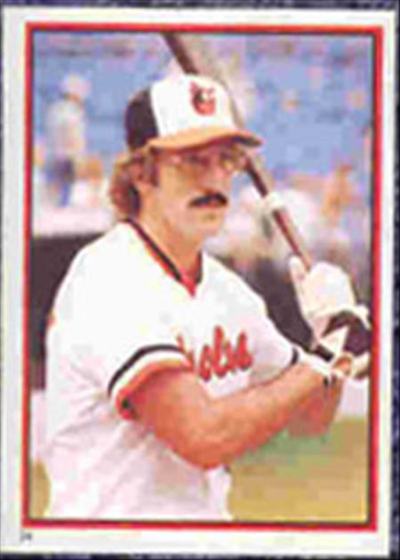 1983 Topps Baseball Stickers     024      John Lowenstein