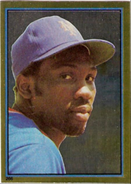1983 Topps Baseball Stickers     266     Mookie Wilson FOIL